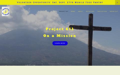 Screenshot of Home Page project611.org - Project611 - captured Sept. 30, 2014