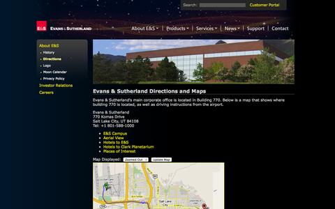 Screenshot of Maps & Directions Page es.com - E&S - Directions - captured Sept. 25, 2014