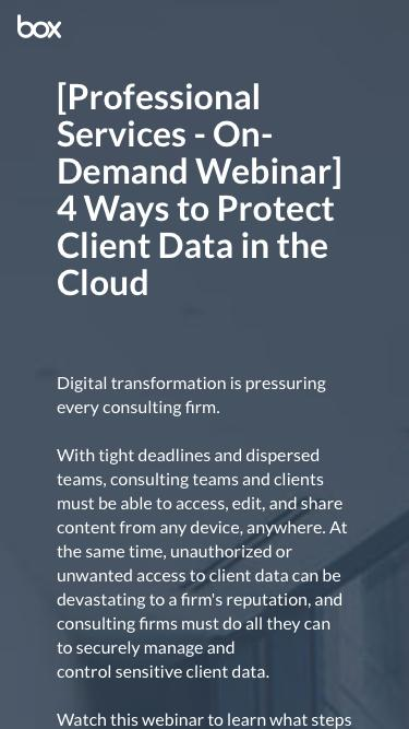 4 Ways to Protect Client Data in the Cloud