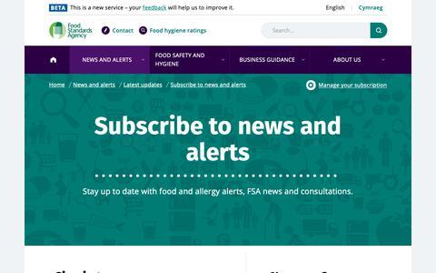 Screenshot of Login Page food.gov.uk - Sign in | Food Standards Agency - captured Oct. 10, 2018