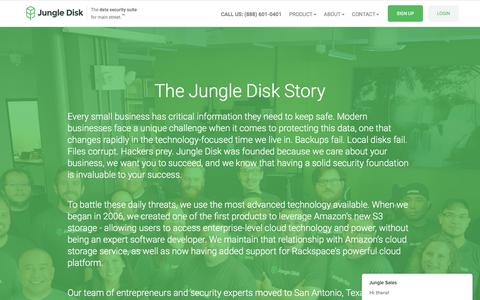 Screenshot of About Page jungledisk.com - Jungle Sales says… - captured May 12, 2018