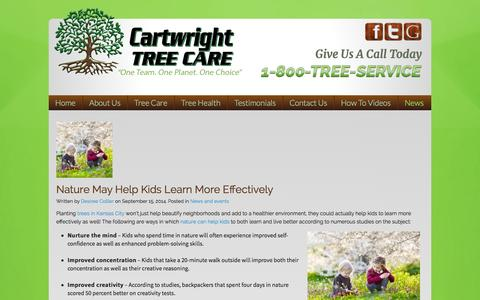 Screenshot of Press Page cartwrighttree.com - Stump Removal Service Lee's Summit | ISA Certified Arborist Overland Park | Cartwright Tree Care MO - captured Sept. 18, 2014