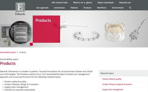 Products – Edwards – Sustainability