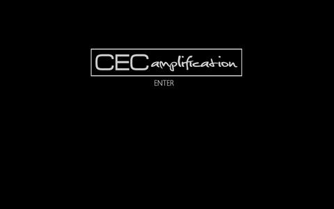 Screenshot of Home Page cecamps.com - Welcome to CEC Amplification - captured Oct. 1, 2014