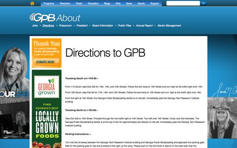 Screenshot of Maps & Directions Page gpb.org - Directions to GPB | Georgia Public Broadcasting - captured Sept. 24, 2014