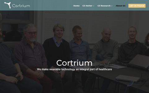 Screenshot of About Page cortrium.com - About Us - Cortrium - captured May 22, 2017