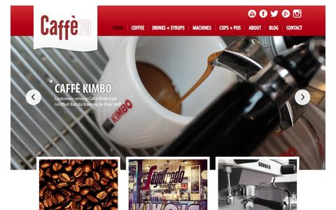 Screenshot of Home Page caffe79.com - Coffee distributors London - Coffee supplier London - Caffe79 - captured Oct. 1, 2014