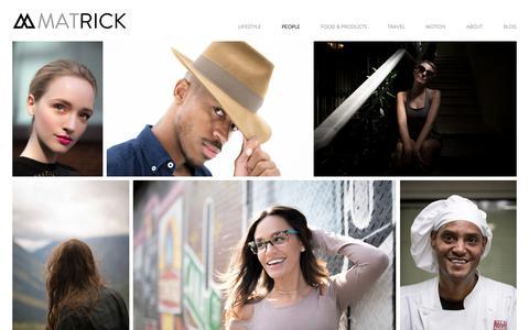 Screenshot of Team Page matrickphoto.com - People — Mat Rick Photography - captured Oct. 17, 2017