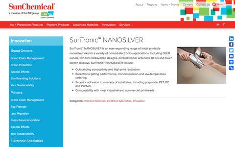 SunTronic™ NANOSILVER | Sun Chemical