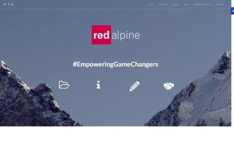 Screenshot of Home Page redalpine.com - Redalpine | #EmpoweringGameChangers | Redalpine - captured Aug. 16, 2015