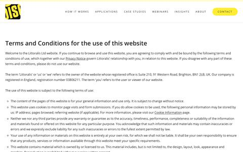 Screenshot of Terms Page littoralis.com - Website terms and conditions | DISC - captured Dec. 8, 2018