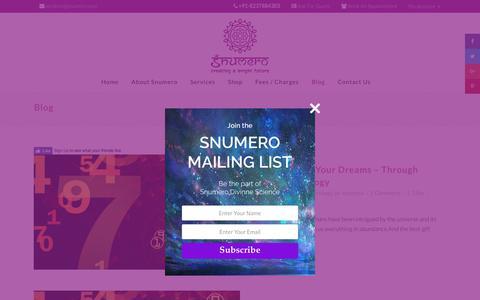 Screenshot of Blog snumero.com - Blog - Snumero - captured Oct. 22, 2017
