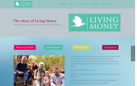 Screenshot of About Page living-money.com - About - Living Money - captured Jan. 29, 2017