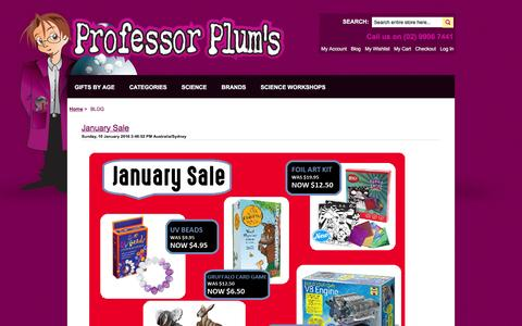 Screenshot of Blog professorplums.com.au - Blog - captured Feb. 16, 2016