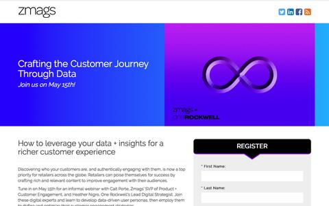Screenshot of Landing Page zmags.com - Zmags | Crafting the Customer Journey Through Data - captured May 6, 2018