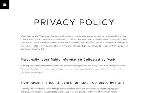 Privacy Policy   Pushing Brands to Their Full Potential   Push