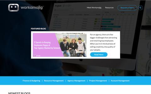 Screenshot of Blog workamajig.com - Workamajig Blog - captured March 17, 2018