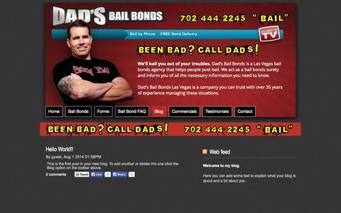 Screenshot of Blog dadslv.com - Blog - Website - captured Nov. 3, 2014