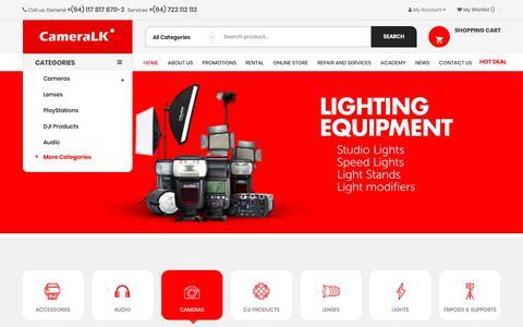 Screenshot of cameralk.com - CameraLK - Best Place To Buy / Rent Your Camera in Sri Lanka - captured Nov. 4, 2018