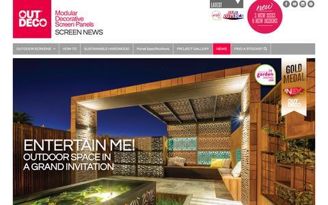 Screenshot of Press Page outdeco.com - SCREEN NEWS - Outdeco Outdoor Decorative Screen Panels - captured June 21, 2016