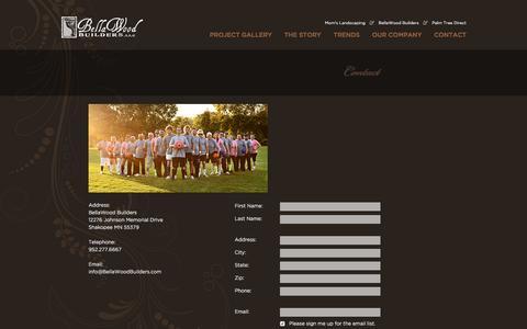 Screenshot of Contact Page bellawoodbuilders.com - Contact   Bellawood Builders - captured Nov. 22, 2016