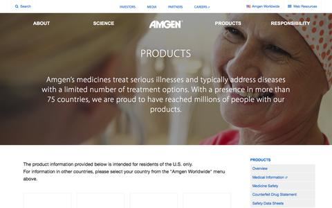High traffic Biotech Products Pages | Website Inspiration