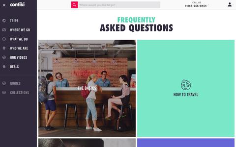 Screenshot of FAQ Page contiki.com - Frequently Asked Questions | Contiki - captured April 22, 2018