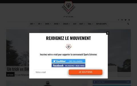 Screenshot of Home Page sports-extremes.net - Sports-Extremes.net   L'actualité des sports extrêmes - captured June 28, 2017