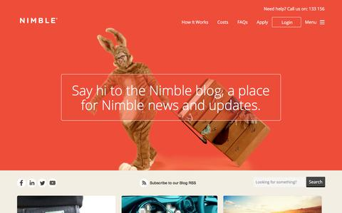 Screenshot of Blog nimble.com.au - Nimble Blog - Clever life hacks, financial musings and other useful stuff - captured June 27, 2017
