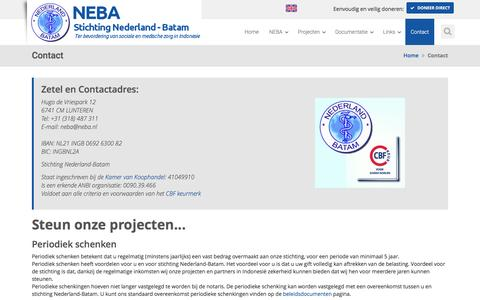 Screenshot of Contact Page neba.nl - Contact - captured Dec. 2, 2016