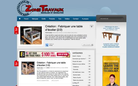 Screenshot of Home Page zonetravaux.fr - Zone Travaux - captured Sept. 23, 2014