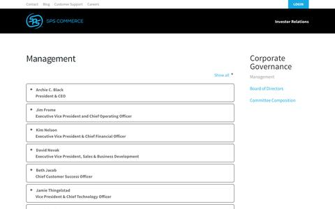Screenshot of Team Page spscommerce.com - Management - SPS Commerce - captured July 15, 2015