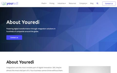 Screenshot of About Page youredi.com - About Us | Youredi - captured Dec. 11, 2018