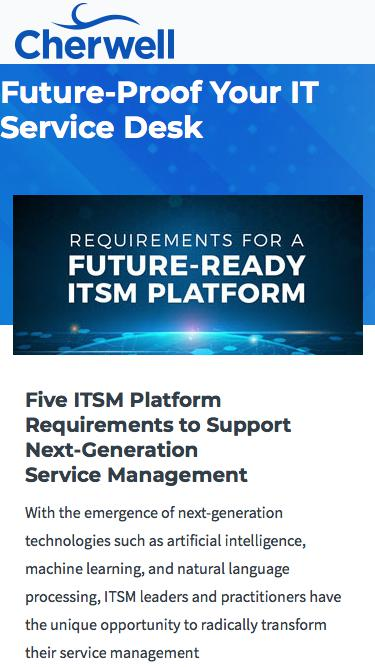 Whitepaper | Requirements for a Future-Ready ITSM Platform