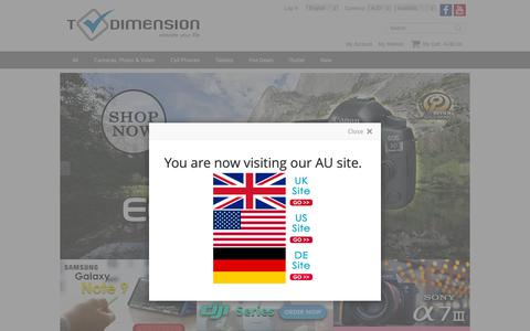 Screenshot of Home Page t-dimension.com - T-Dimension Phone & Camera Shop - Best Price Online - captured Oct. 19, 2018