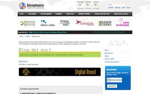 Screenshot of Blog cooperativabiosphaera.it - Blog dei soci - Ricerche e Studi Naturalistici Biosphaera s.c.s. - captured Oct. 7, 2014