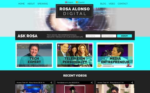 Screenshot of Home Page mividatec.com - Home Rosa Alonso Digital - captured Oct. 6, 2014