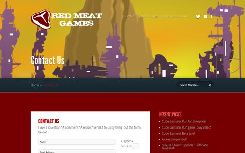 Screenshot of Contact Page redmeatgames.ca - Contact Us | Red Meat Games - captured Nov. 5, 2014