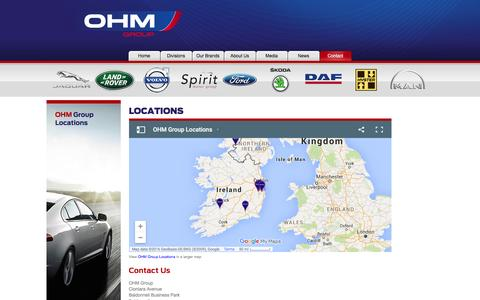 Screenshot of Locations Page ohm.ie - Locations |  Contact | OHM Group - captured Feb. 26, 2016