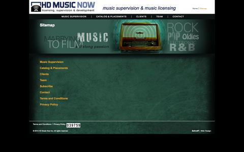 Screenshot of Site Map Page hdmusicnow.com - Sitemap | HD Music Now - captured Sept. 26, 2014