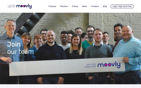 Screenshot of Jobs Page moovly.com - Discover your next career opportunity.   Moovly - captured May 9, 2017