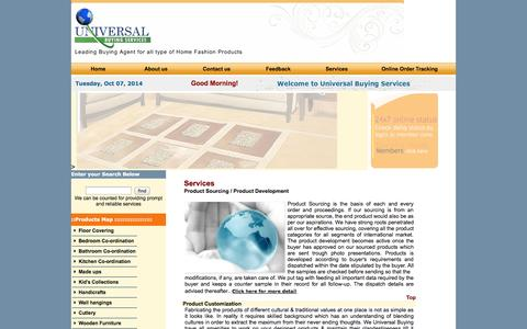 Screenshot of Services Page ubservice.net - SOURCING AGENT, BUYING AGENT OF HOME FURNISHING ITEMS ,UB Service - captured Oct. 7, 2014