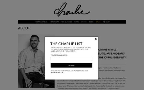 Screenshot of About Page charliebymz.com - About | Charlie By MZ - captured Nov. 5, 2016
