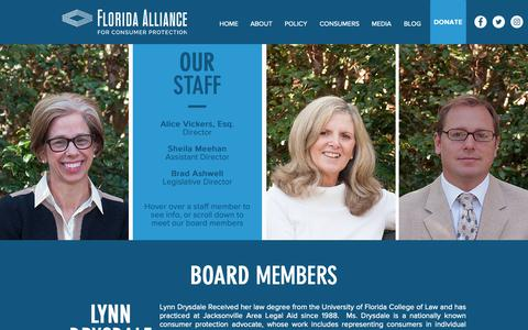 Screenshot of Team Page flacp.org - Our Team | Florida Alliance for Consumer Protection - captured Oct. 10, 2018