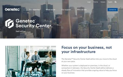 Security Center SaaS Edition | Genetec