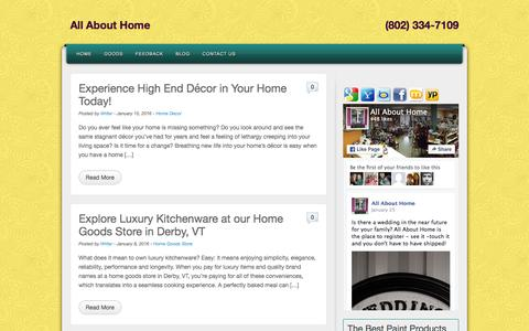 Screenshot of Blog allabouthomevt.com - Blog | All About Home - captured March 7, 2016
