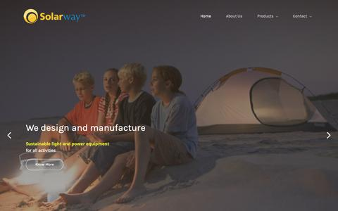 Screenshot of Home Page solarway.com - Solarway - captured Oct. 20, 2018