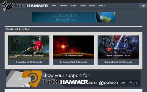Screenshot of Support Page tentonhammer.com - Support | Ten Ton Hammer - captured Dec. 5, 2015