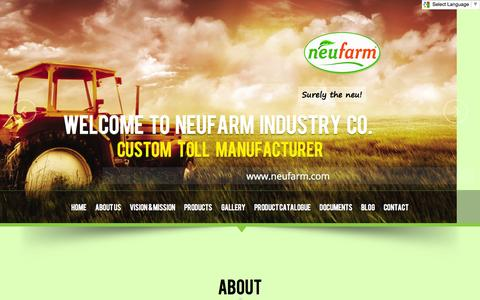 Screenshot of Blog About Page Contact Page Products Page neufarm.com - Neufarm | Leader of Agribusiness - captured Oct. 27, 2014