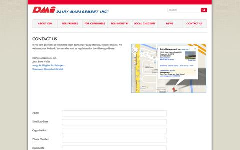 Screenshot of Contact Page dairy.org - Dairy Management Inc. :: Contact Us - captured Oct. 5, 2014